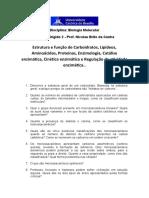 Estudo Dirigido 2 Bioquimica_Biologia Molecular