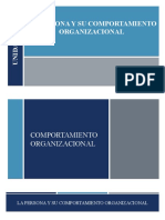 La persona y su comportamiento organizacional