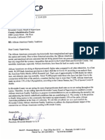 Letter from Riverside NAACP to Riverside County Board of Supervisors