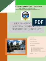 MEMORIA DESCRIPTIVA QUICHUAY
