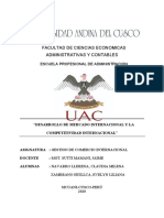 DESARROLLO DE MERCADO INTERNACIONAL Y LA COMPETITIVIDAD INTERNACIONAL