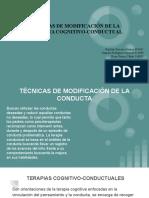 TÉCNICAS DE MODIFICACIÓN DE LA CONDUCTA (1)