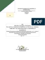 Neira, Aguayo y Expósito (2001) - El capital humano en América Latina en el periodo 1965-1990 y su contribución al desarrollo económico