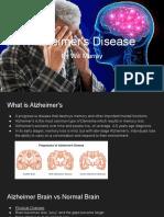 William's Alzheimer's Disease Presentation
