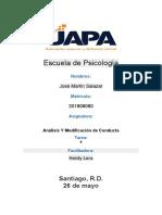 Tarea 9 Analisis y Modificacion de Conducta Jose Martin Salazar
