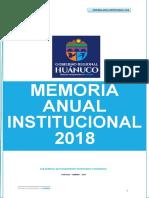 MEMORIA ANUAL  GOREHCO 2018