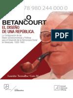 Libro Romulo Betancourt El Diseno de Una Republica