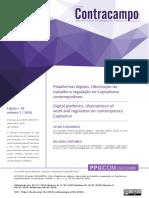 Ricardo Antunes e Vitor Filgueiras_Plataformas digitais Uberização do trabalho e regulação no Capitalismo contemporâneo.pdf