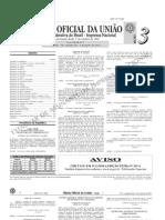 diário oficial da união (DOU) - 03.01.2011 - seção 3