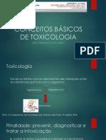 Noções básicas de toxicologia Kelly F_ da Cunha