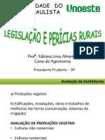 AULA - AVALIAÇÃO DE BENFEITORIAS AGRÍCOLAS (UNOESTE)