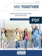 2020 Maryland MSDE Recovery Plan June