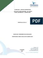Portfólio Ciclo 3 - Fundamentos da Educação