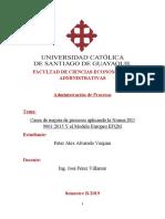NORMAS ISO y EQMS CASOS PETER ALVARADO