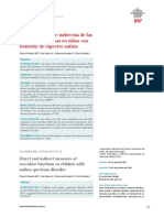 Medidas directas e indirectas de las funciones ejecutivas en niños con trastorno de espectro autista