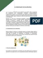 6. VIA DE CONTAMINACION DE LOS ALIMENTOS