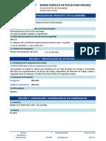 Ficha de dato de seguridad Resina Fenólica
