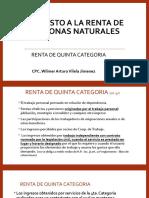 RENTA DE QUINTA CATEGORIA