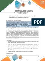 Guía de actividades y rúbrica de evaluación fase 3 Realizar informe del estudio financiero
