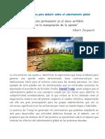 Actividad didáctica para debatir sobre El Calentamiento Global