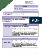 Hypertrophy Week 5 Deload