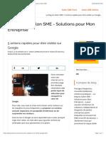 5 actions rapides pour être visible sur Google - Le blog du Salon SME