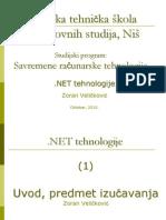 1 2010 NET Tehnologije Predavanja