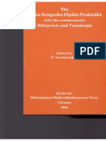 Tarka Sangraha Dipika Prakasika with Balapriya and Prasarna Ramanuja Tatacharya N.S. (revised)