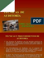 4 TECNICAS Y PROCEDIMIENTOS DE AUDITORIA