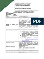 ACTIVIDADES ACADÉMICAS VIRTUALES 6.3