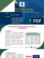 Registro de Inventario Permanente Valorizado.