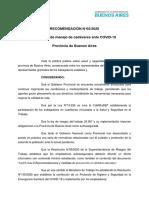 Recomendacion N°2-2020 CoMiSaSEP Protocolo MANEJO DE CADÁVERES - COVID19