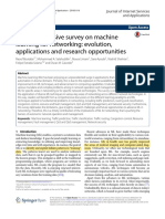 A comprehensive survey on machine learning for networking