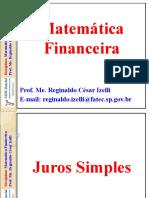Aula-3 MatemáticaFinanceira Juros Simples