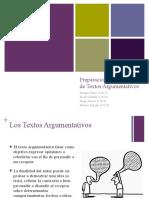Preparación y evaluación de los textos argumentativos