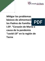 Mitigar los problemas básicos de alimentación de los Padres de Familia de la I