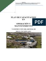 Capacitacion en Operacion y Mantenimiento Riego