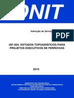 ISF-204 - Estudos Topográficos Projeto Executivo