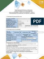 Guía de actividades y rúbrica de evaluación - Paso 2 - Psicofisiología de la Atención, Percepción y Memoria.docx