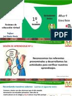Sesión 1 - Referentes pronominales