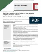 Efecto de la insuflación de aire subglótico sobre la presión subglótica durante la deglución