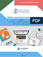 Tema 5 - Creacion y diseño de tareas fechas de vencimiento calificaciones.pdf