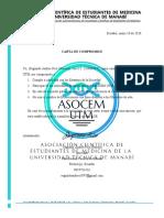 Carta Compromiso ASOCEM - UTM