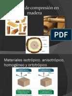 Ensayo de compresión en madera