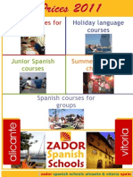 Spanish courses Spain Prices 2011