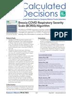 Brescia-COVID Respiratory Severity Scale (BCRSS) Algorithm