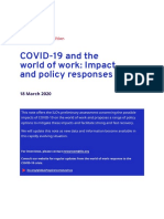 Effects of COVID 19 to labor sector