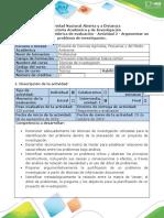Guía de actividades y rúbrica de evaluación - Actividad 2-Argumentar un problema de investigación