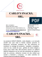 CATALOGO  CARLO'S SNACKS, S.R.L.