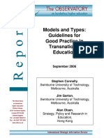 Models and Types_Guidelines for Good Practice in Transnational Education_September 2006
